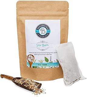 Birds & Bees Teas - Organic Herbal Sitz Bath Soak Postpartum Care and Hemorrhoid Relief - For Soothing, Healing & Pain Relief for Postpartum Recovery - 4 Sachets
