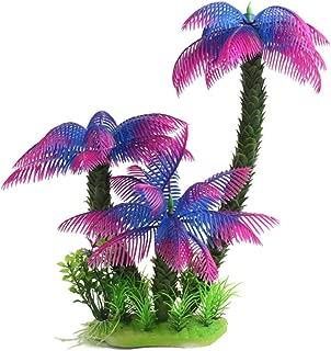 Riverbyland Artificial Aquarium Plant Purple Popular Cocount Palm