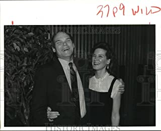 1992 Press Photo James Carville & Mary Matalin, Clinton & Bush campaign workers