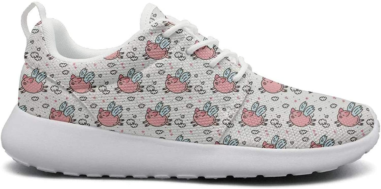 Ipdterty Wear-Resistant Jogger Sneaker Cute Flying Pig Humor Beautiful Women Novelty Track Running shoes