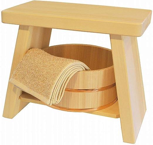 Hinoki Bath 4 Set Chair Soap Stand Bathtub Pure Wood Ball Japanese Cypress New