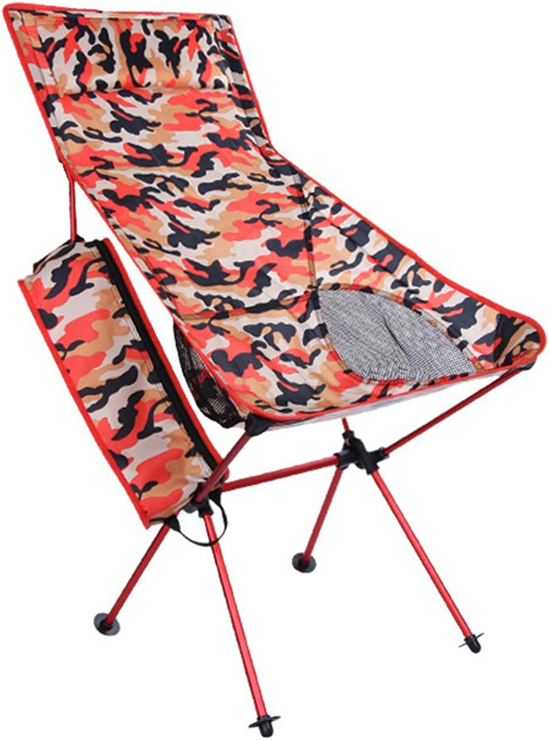 Camping Chair Lightweight Portable Folding Stool Long Casual Folding Chair, Oversized Support 260lbs, for Outdoor Camp, Travel, Picnic