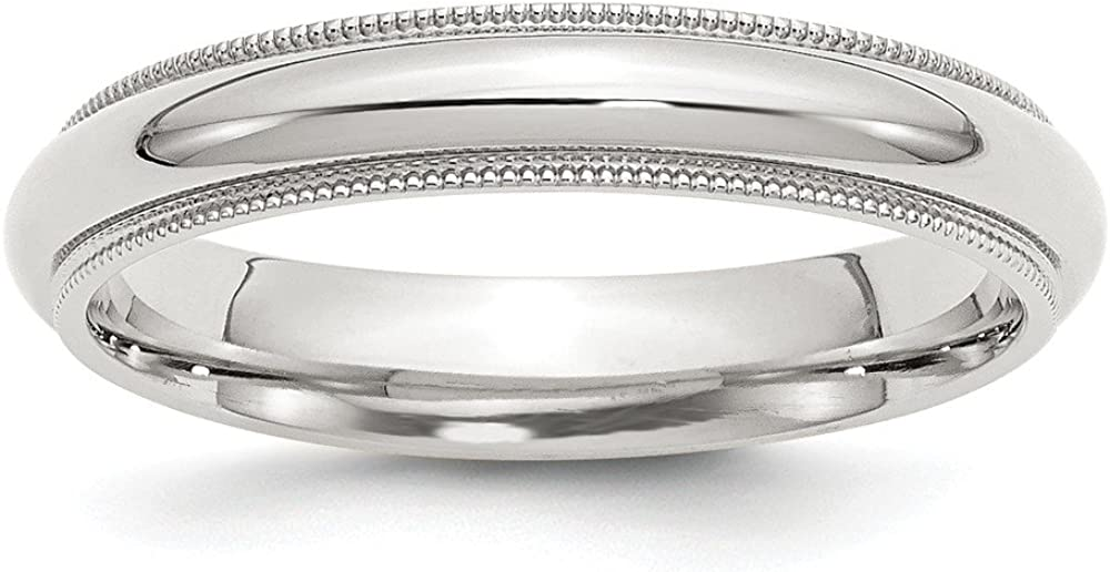 Sterling Silver 4mm Milgrain Ring Comfort Fit 直営ストア 驚きの値段 Band