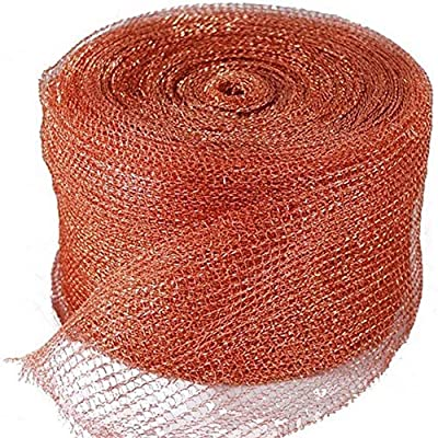 Copper Mesh Stuff Hole Home Stopper Nonflammable DIY Weatherproof Yard Wildlife Control Flexible Cuttable Multipurpose Soft ock Mouse(50FT)