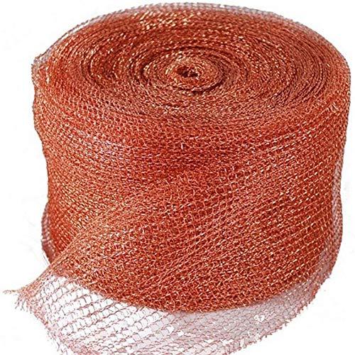 LZDseller01 Kupfergewebe zur Schädlingsbekämpfung, selbstschneidbares Kupferband, Schnecken- und Schneckenbarriere für Heim, Hof, Wildtierbekämpfung, Mehrzweck-wetterfest, nicht brennbar