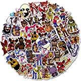 Five Nights at Freddy's Stickers 50 Pack Waterproof Stickers Laptop Bumper Skateboard Water Bottles Computer Terror Game Stickers