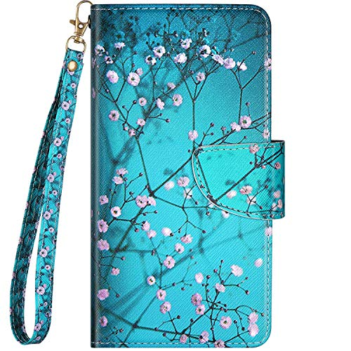 Qjuegad Leather Phone Case Compatible with Xiaomi Redmi Note 7 Flip Wallet Cover with Card Holder & Wrist Strap, Magnetic Buckle Personalised 3D Pattern Design Shockproof Protective Cover