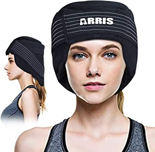 ARRIS Ice Cap for Headache and Migraine - Pain Relief Hat with Ice Pack for Migraine, Head and Neck Tension, Hot Cold Therapy Treatment for Chemo, Sinus Relief, Fever, Menopause, etc.