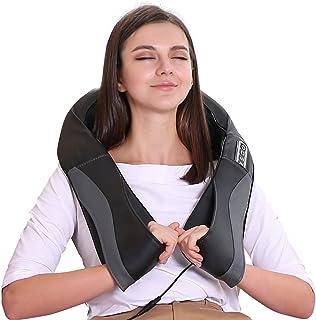 Masseur avec Fonction de Chaleur pour Cou Épaules et Dos Appareil de Massage Shiatsu Électrique au Bureau à Domicile