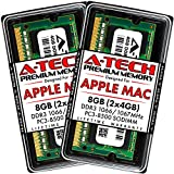 A-Tech 8GB (2 x 4GB) PC3-8500 DDR3 1066/1067 MHz RAM for MacBook, MacBook Pro, iMac, Mac Mini (Late 2008, Early/Mid/Late 2009, Mid 2010) | 204-Pin SODIMM Memory Kit