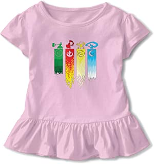 6-24 Month Baby T-Shirt Avatar The Last Legend Airbender of Korra Aang Nordic Winter Personality Wild Pink 4T