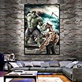 ganlanshu Pintura sin Marco Movie Hero Nordic Poster Hero Kids Room Decoration Wall Art canvasZGQ3482 40X60cm
