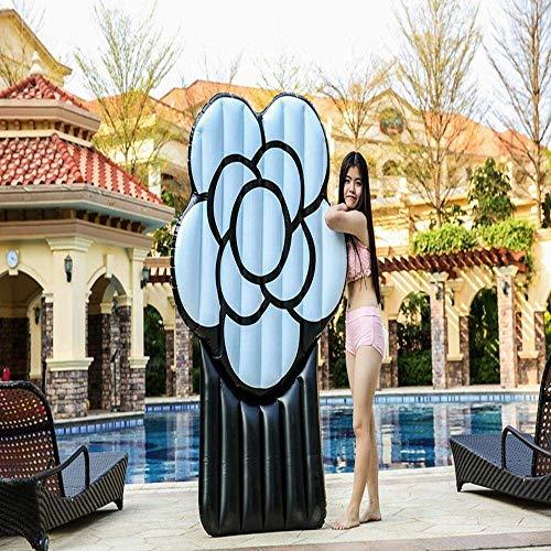 min min Airbeds 2019 New Black Rose Adulto Fila Flotante Fila Inflatable Juguetes Agua Esquí Agua Surf Flotante Cama Natoria Ring 180cm