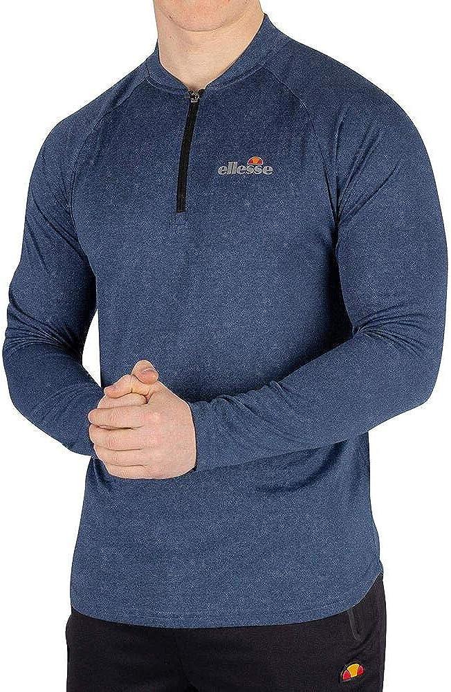 ellesse Men's Janeti チープ 正規取扱店 Longsleeved Blue T-Shirt
