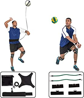 HoDrme 2 Sets of Volleyball Training Aid-Volleyball Rebounder & Resistance Band-Great Trainer for Solo Practice of Serving Tosses, Arm Swings and Passing Technique
