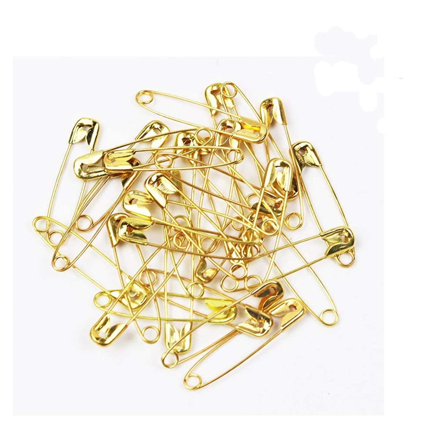 ChooseU 1000 pcs Small Nickel Plated Safety pins 0.87'' Length (22mm) wholesales for Garment Hang tag DIY Safety Pins Brooch Jewelry Accessory Colors Jewelry Accessories (Gold)