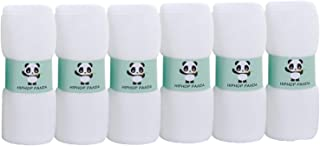 Organic Bamboo Baby Washcloths - Hypoallergenic 2 Layer Ultra Soft Absorbent Bamboo Towel - Newborn Bath & Face Towel - Natural Reusable Baby Wipes for Sensitive Skin - Baby Registry as Shower Gift