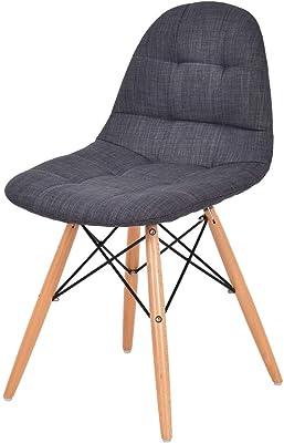 Amazon.com: Ch-AIR Sillones de tela sillón de madera maciza ...