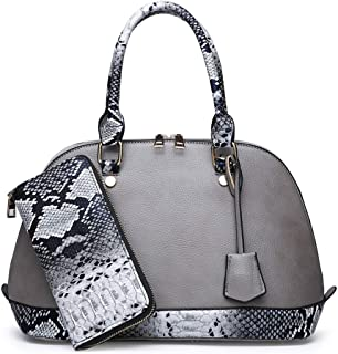 Fashion New Exquisite Trend Casual Fashion Durable Portable Slung Shoulder Single Large Capacity PU Shell Bag Handbag (Color : Gray)
