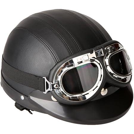 Vintage Cruiser Racer in pelle scooter moto antivento casco nero occhiali occhiali occhiali per biciclette occhiali scooter