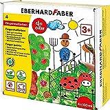 Eberhard Faber 578804 - EFA Color Fingerfarben-Set mit 4 Farbtöpfchen zu je 100 ml, schnelltrocknend und auswaschbar, zum Mischen und für kreativen Malspaß
