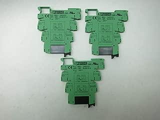 LOT of 3 PHOENIX CONTACT PLC-BSC-24DC/21 2966016 Relay Module 24V-DC D636715