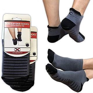 YogaAddict Non Slip Skid Socks with Grips, for Hospital Rehab, Traveling, Yoga, Pilates, Barre, Martial Arts, Trampoline, ...
