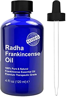 Radha Beauty Frankincense Essential Oil 4 oz - 100% Pure & Therapeutic Grade, Steam Distilled for Aromatherapy, Relaxation, Supports Healthy Immune System & Nervous Function, Stress & Anxiety Relief