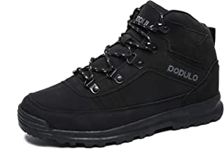 Men's Hiking Boots Outdoor Winter Warm Sneakers Casual Boots and Rubber Sole
