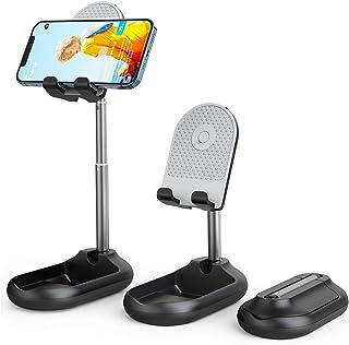 """Suporte ajustável para telefone celular, suporte dobrável para telefone para mesa compatível com dispositivos 4""""-10"""" (preto)"""