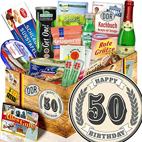 50. Geburtstag - Ostbox -Spezialitäten - 50. Geburtstag Geschenkset