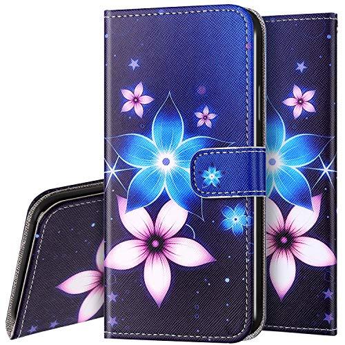 Surakey - Funda de piel con tapa para Samsung Galaxy A01, color Fiore