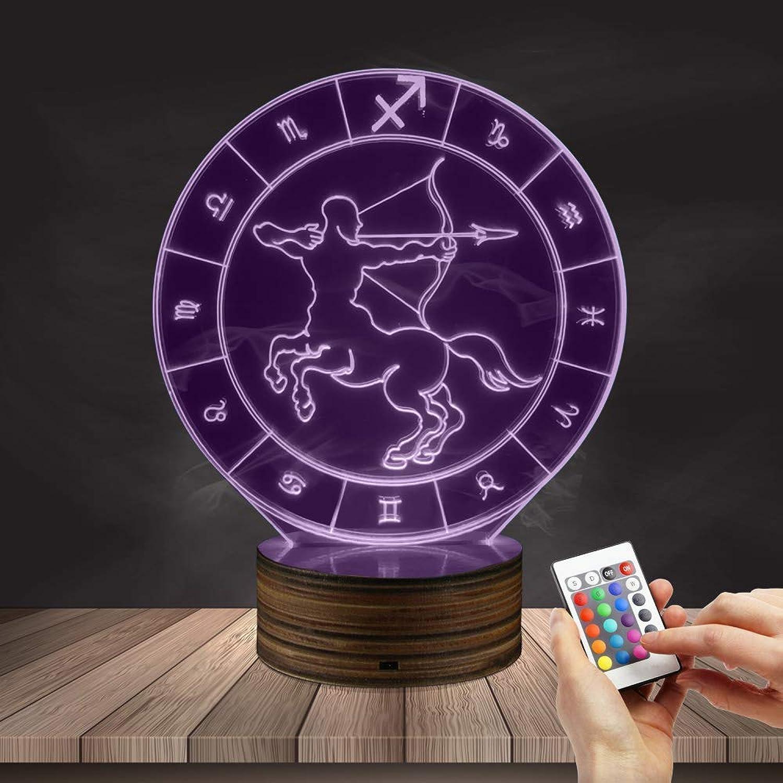 WMING Home Schütze Nachtlicht, 16 Farbwechsel 3D LED Optische Tuschung Tisch Schreibtischlampe Dekor Beleuchtung Geburtstagsgeschenk
