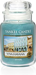 Yankee Candle Large Jar Scented Candle, Viva Havana, Up to 150 Hours Burn Time, Glass, Green