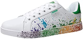 Zapatos Planos para Mujer Hombre Informal Zapatos Blancos con cordones Unisex Zapatos deportivos para Hombre Corriendo Zap...
