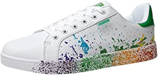 Women's Color Graffiti White Shoes Sports Shoes Running Shoes Men Women Casual Shoes Lovers Shoes