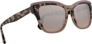 Valentino VA 4036 Sunglasses Pink Ice Havana w/Light Brown Mirror Gradient Lens 54mm 50948Z VA4036S VA4036/S VA4036