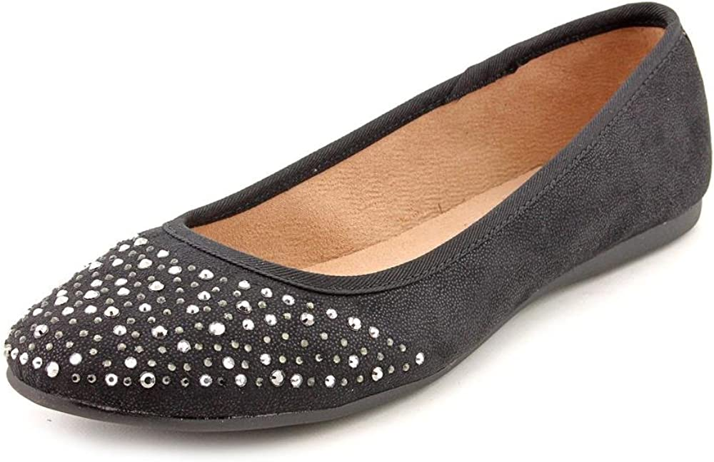 Style & Co. Womens angelynn Leather Closed Toe Casual Slide, Black, Size 9.5