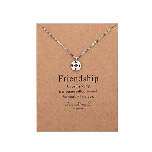 d77ae3706913 ForeveRing Z Message Card Love Four Leaf Clover Necklace Believe Yourself Pendant  Necklace Woman Jewelry