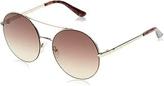 Guess Round Sunglasses for Women - Brown Mirror Lens, GU7559-32G