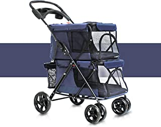 Color : Blue ASF15 Pet bag Pet Rover Premium Heavy Duty Dog//Cat//Pet Stroller,Travel Carriage with Convertible Compartment