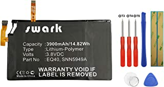 Swark EQ40 Replacement Batteries Compatible with Motorola Droid Turbo, Droid Turbo LTE, XT1254, Quark, XT928, XT885 EQ40, SNN5949A with NFC + Tools