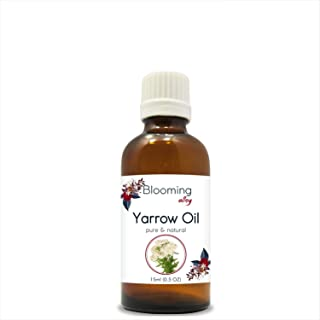 Yarrow Oil (Achillea millefolium) 100% Pure Natural Undiluted Uncut Essential Oil by Blooming Alley (15ml)