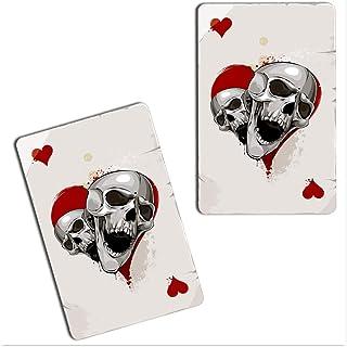 SkinoEu® 2 x vinyl självhäftande klistermärken hjärtan skalle poker spelkort laptop iPad bil fönster bil motorcykel hjälm ...