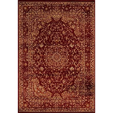 Persian Area Rugs 3212 Burgundy 5x7 New Large Distressed Silver 5'2X7'2 Area Rug/Carpet