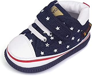 OAISNIT Baby Boys Girls Squeaky Shoes Anti-Slip Soft Rubber Sole Canvas Sneakers Toddler First Walkers