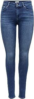 Only ONLBLUSH Life Mid Skinny BB DOT857 Jeans, Medium Blue Denim, S/30 Femme