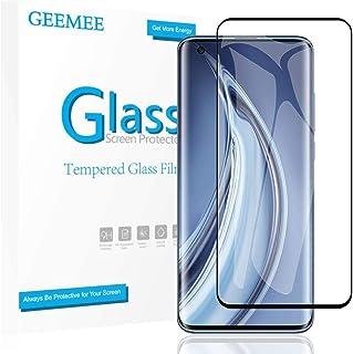 GEEMEE XIAOMI MI 10/MI 10 PRO ガラスフィルム 強化ガラス 3D曲面対応 指紋認証対応 液晶保護フィルム 高透過率 飛散防止 9H硬度 耐衝撃 防指紋 気泡レス MI 10/MI 10 PRO 5G 保護フィルム