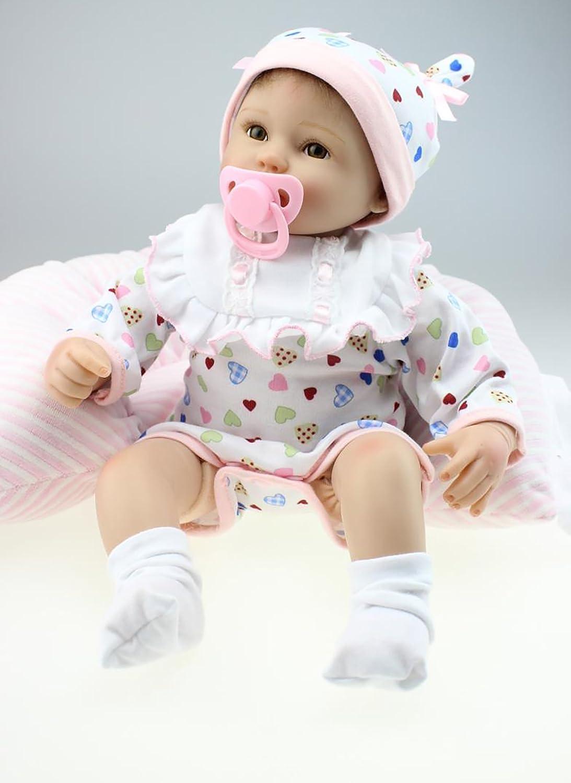 ZIYIUI 18'' 45 CM Real Life Baby Dolls Reborn Soft Silicone Babies Lifelike Girl Toy
