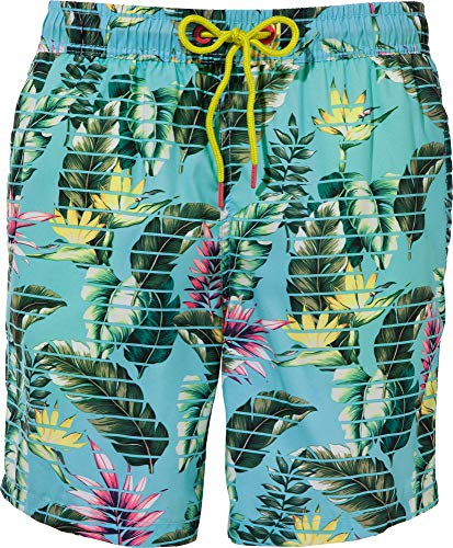 ESPRIT Herren Sunshine Bay Woven Shorts 42 Badehose, Blau (Light Turquoise 480), Large (Herstellergröße: 6)